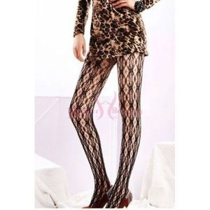 Lace tights black