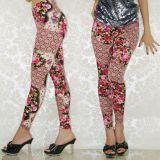 Leggings with flowers