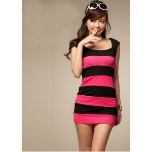 Striped dress summer