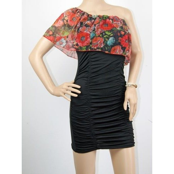 цветное платье на одно плечо купить