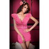 Мини платье с v-образным вырезом. по оптовой цене
