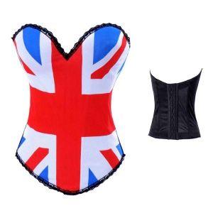 Роскошный корсет флаг Британии. - Корсеты