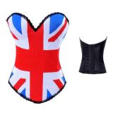 Luxurious corset flag of Britain.