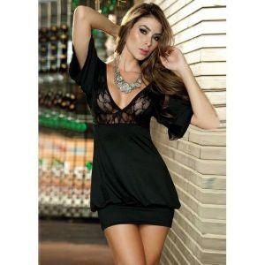 Sexy mini dress with translucent panels.. Артикул: IXI19080
