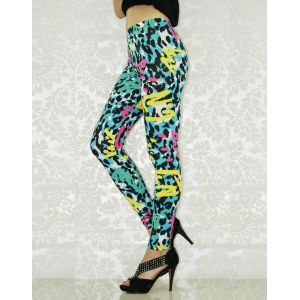 Colorful leggings with fashionable print.