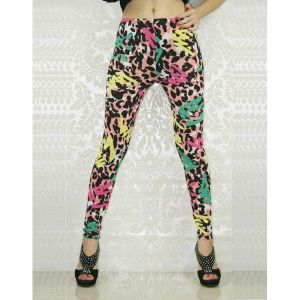 Stylish leggings with bright print.. Артикул: IXI19270
