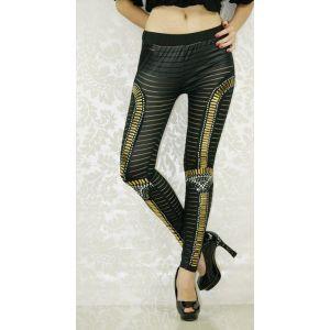 Leggings in egipetsko style with stripes.