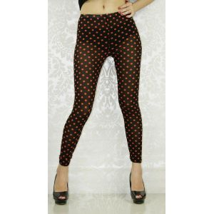 Legging with red polka dots.
