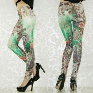 Stylish leggings with floral print