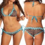Leopard swimsuit narrow straps