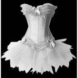 Сексуальное белое платье-корсет