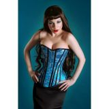 Blue corset with embroidery