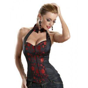 Black corset spaghetti strap