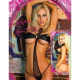 Black Monokini fishnet