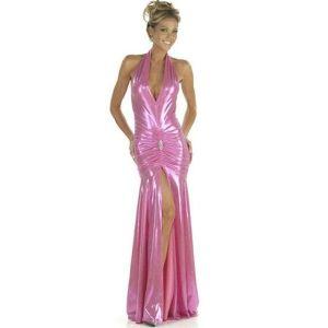 Сексуальное малиновое платье