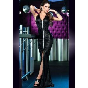 Soblaznitelnye long zipper dress