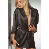 A delicate, black negligee