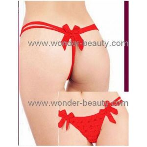 Red G-string with bows