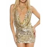 Блестящее платье с умопомрачительным декольте цена фото