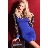 Мини-платье с кружевом по оптовой цене