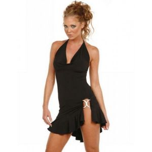 SALE! Black clubwear mini dress with cutout