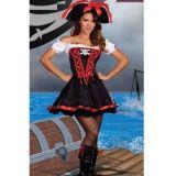 Passionate carnival costume pirates