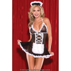 Underwear set in the style of a French maid. Артикул: IXI20371