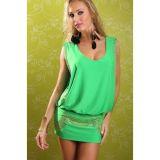 Соблазнительное зеленое платье по оптовой цене