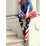 Stylish leggings with flag print