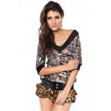 Chiffon leopard print shorts with ruffle