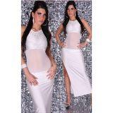 Роскошное платье с прозрачными вставками