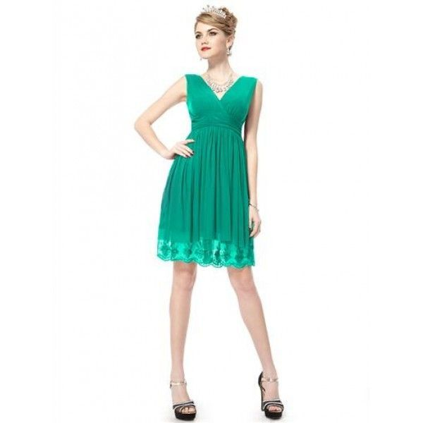Вечернее коктейльное платье с V-образным вырезом спереди и сзади