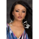 Feather earrings are triangular in shape