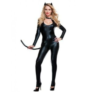 Sexy costume, playful kitties