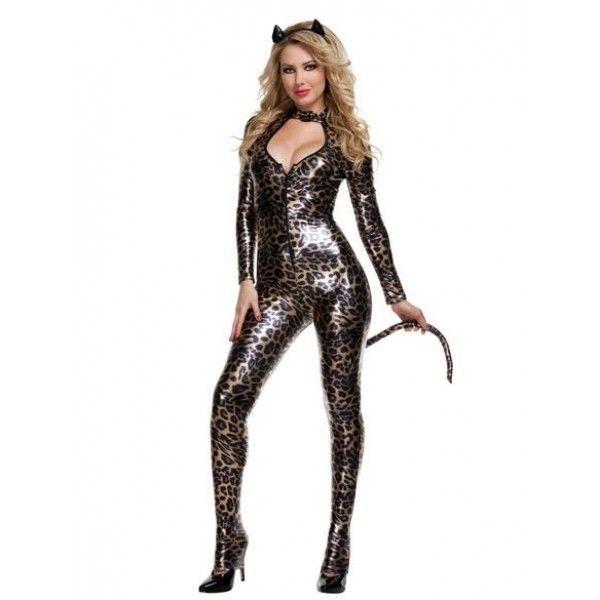 Сексуальный костюм, кошечки с леопардовым принтом