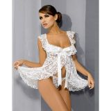 Lace negligee babydoll