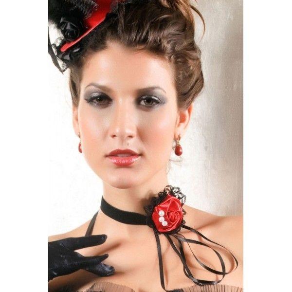 Экстравагантное украшение на шею, Красная роза