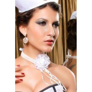 Элегантное украшение на шею в виде белого цветка - Подвески и ожерелья