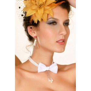 Украшение на шею в виде белой бабочки - Подвески и ожерелья