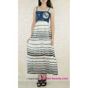 Light, summery sundress with a striped print. Артикул: IXI21020