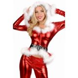 Блестящий новогодний костюм для женщины