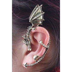 Манжета для уха в виде дракона - Серьги