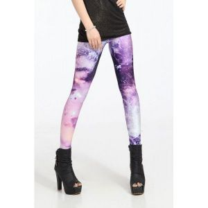 Bright club leggings with star print