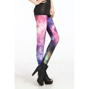 Sexy leggings with galaxy pattern