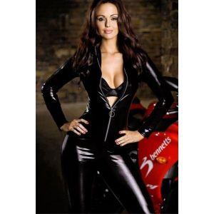 Sexy vinyl catsuit