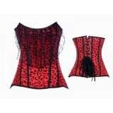 Красный корсе  с леопардовым принтом по оптовой цене
