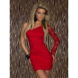 Сексуальное мини-платье с одним рукавом по оптовой цене