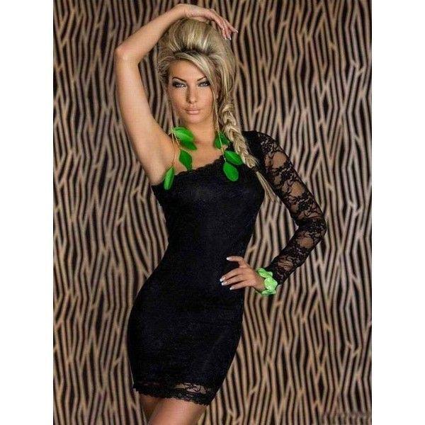 Кружевное Платье С Одним Рукавом Купить В