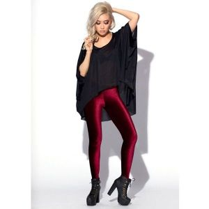 Bright Burgundy leggings