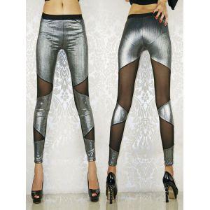 Stylish silver leggings